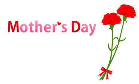 Mothers Day, Carnation Ilustracja