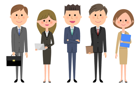 Equipo de negocios, Personas en traje Ilustración de vector