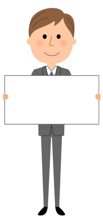 Young businessman, White board.