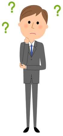 Young businessman, Question Illustration