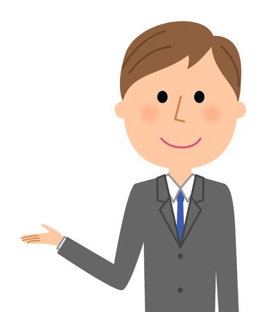 Young businessman, Description.