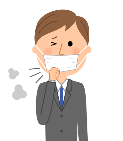 Young businessman, Physical condition badness Stock Illustratie