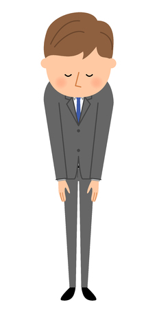 salute: Young businessman, Bow Illustration