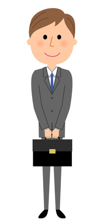 Young businessman, Bag Ilustrace