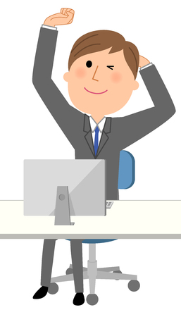 elongacion: Young businessman, Stretch