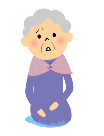 incontinence: Incontinence in elderly women, Illustration