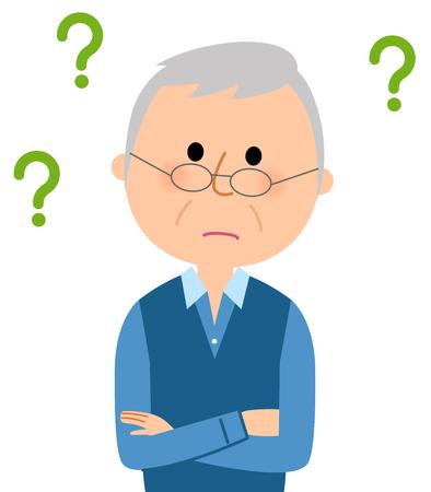 疑問を感じたという初老の男性。