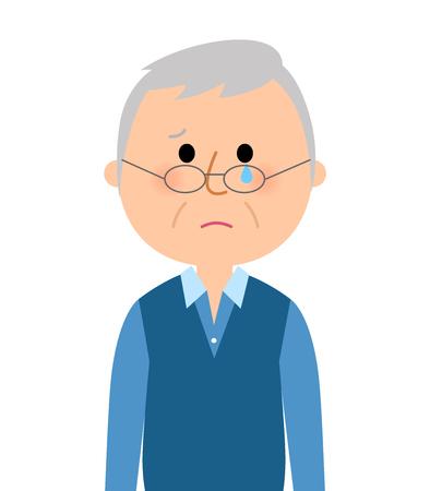 Crying elderly men