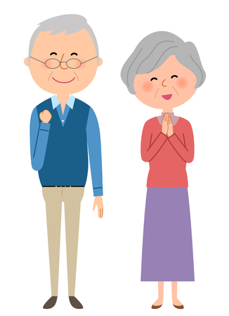 Elderly couple happy