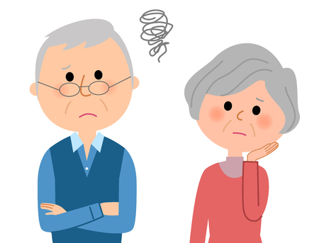 Troubled elderly couple