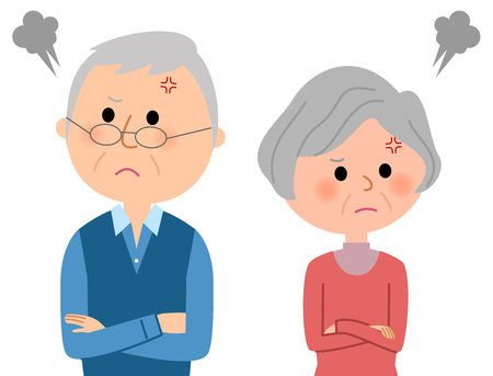 Starsza para kłóci się