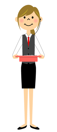 The female of the uniform who works at a gamble store. Vector illustration.