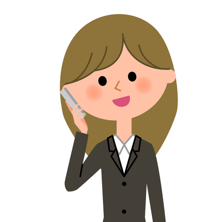 mobilephone: Young businesswoman, Phone
