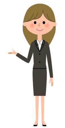 Young businesswoman, Description