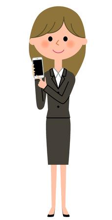 Jonge zakenvrouw Vector Illustratie