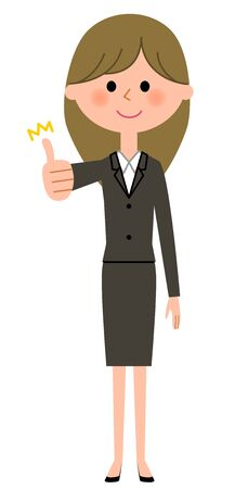 Young businesswoman, Thumbs up Illustration