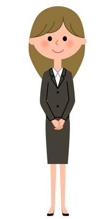 Young businesswoman, Greeting