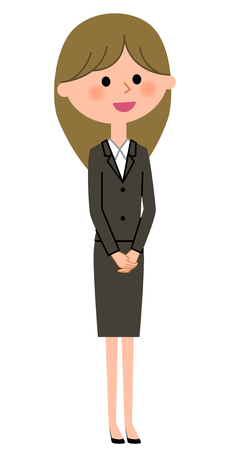 Young businesswoman, Bow. Vector illustration.