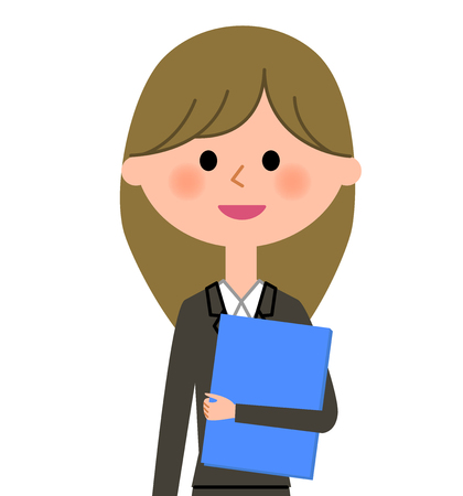 Young businesswoman, Having files