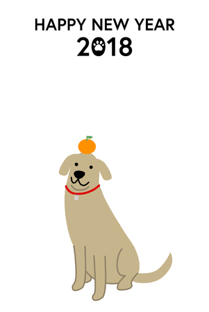New Year's Card for 2018 Vettoriali
