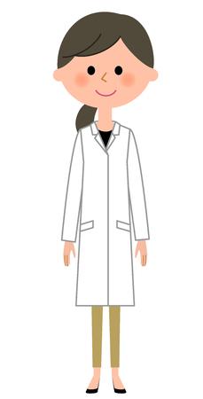 The female of the white coat Ilustrace