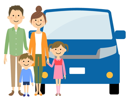Familie und Auto