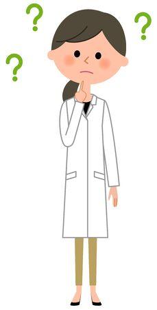 La hembra del abrigo blanco, Pregunta Ilustración de vector