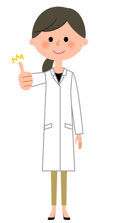 The female of the white coat, Thumbs up