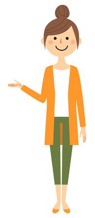 Young woman, mama, explanation  イラスト・ベクター素材