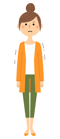 Be shy, Regrettable, young woman, mama Illustration