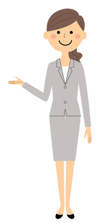 Businesswoman, Description 矢量图像