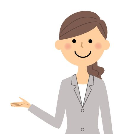 Businesswoman, Description Illustration
