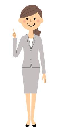 Femme d'affaires. Pointer du doigt