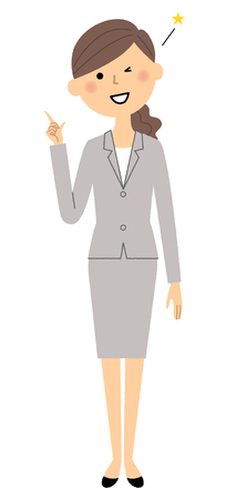 Businesswoman, Finger pointing