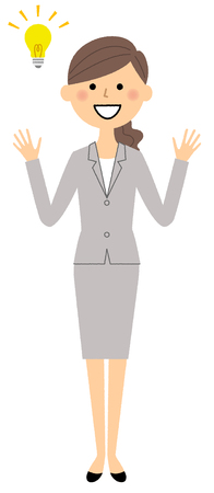 Businesswoman and Inspiration vector illustration.