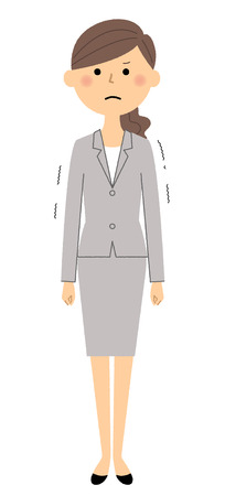 Businesswoman isolated on white background, vector illustration.