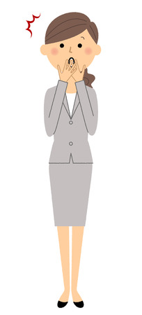 Businesswoman, To be surprised