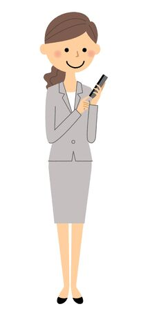 Businesswoman on the phone illustration