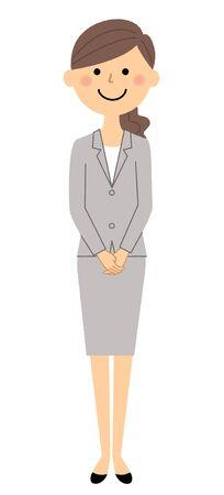 Businesswoman, Greeting customer