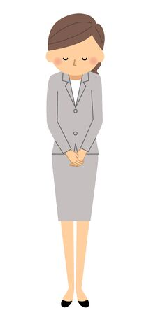 Businesswoman, Bowing