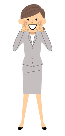 Businesswoman, Cheering