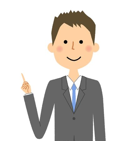 Businessman, Finger pointing