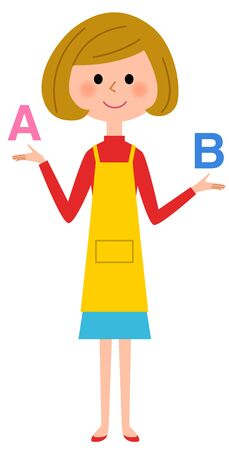 Choose apron woman Illustration