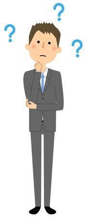 Businessman, Question vector illustration. Imagens - 85414664