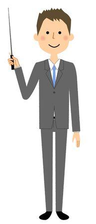 Businessman, Pointer stick