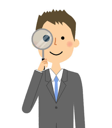 Businessman, Magnifying glass Reklamní fotografie - 85750997