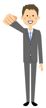 Businessman, Victory Pause