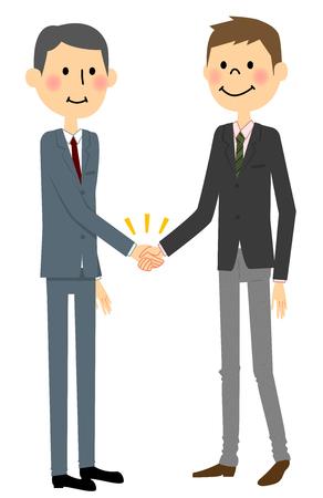 Business scene, Shaking hands Illustration