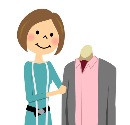 Woman who coordinate fashion