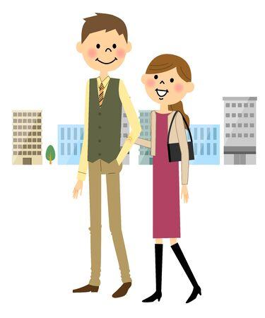 La pareja que data Vectores